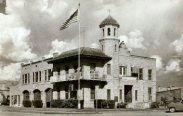 Ballinger's old City Hall, today it houses the Police Station, Fire Department, and Municipal Court. Photo 1950's