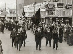 Parade in the 1940's. WWII Era