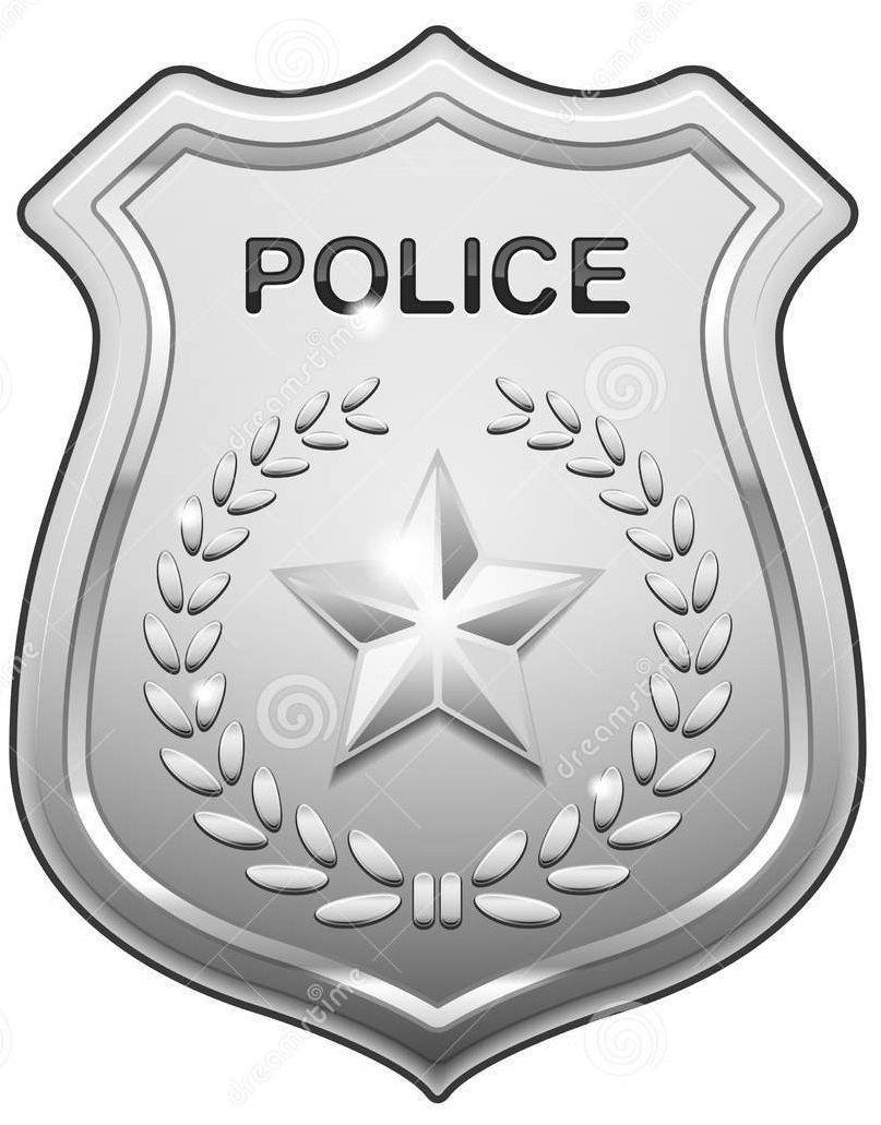 badge size template - full size printable coloring pages police badge full
