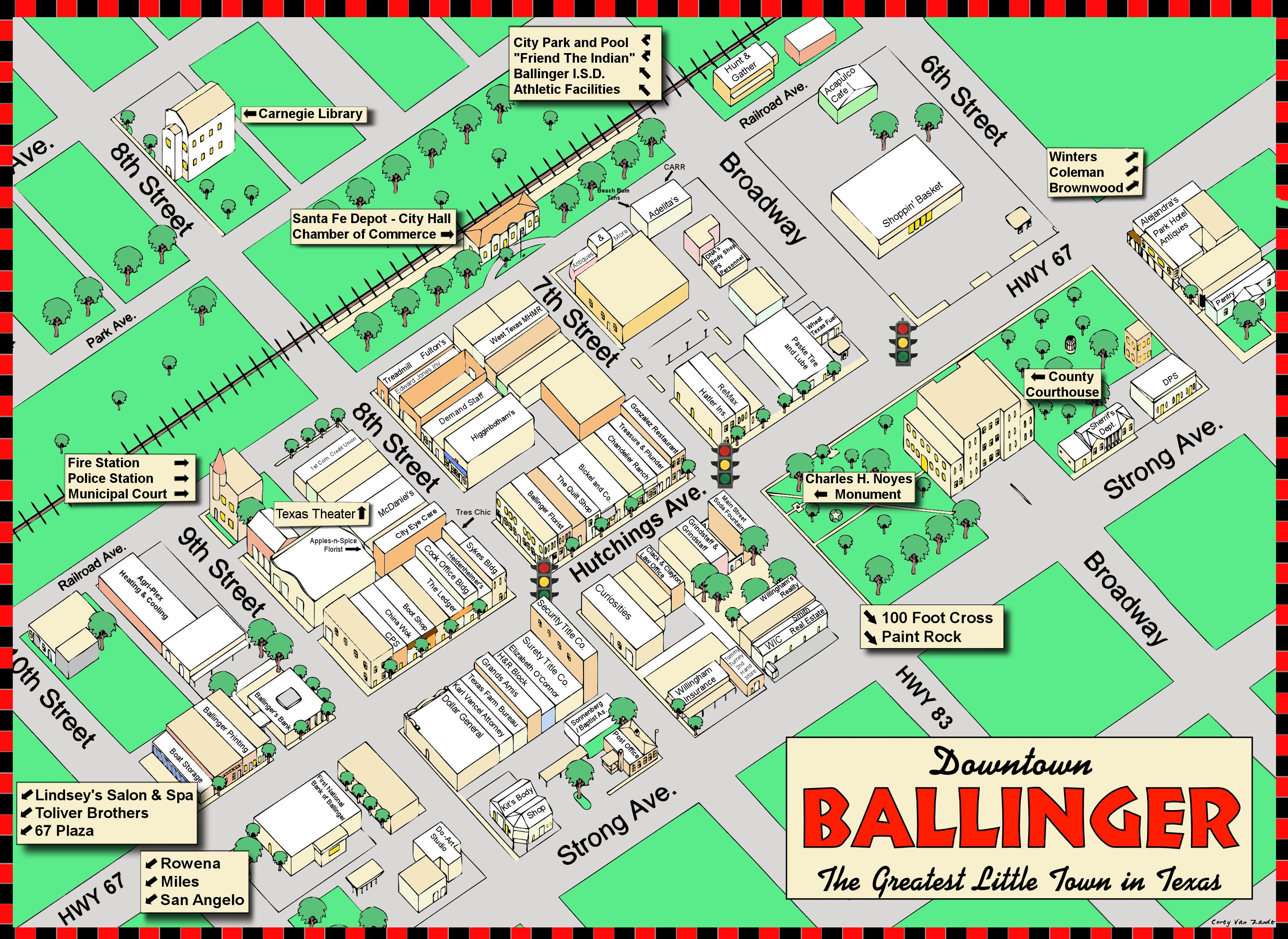 City Maps Welcome To Ballinger