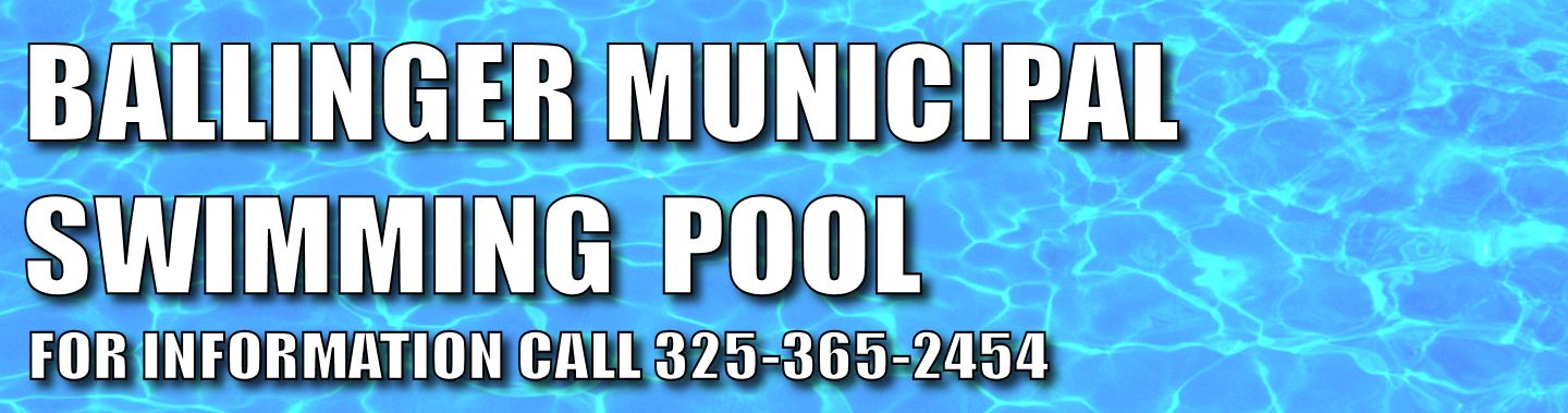 Municipal Swimming Pool Welcome To Ballinger