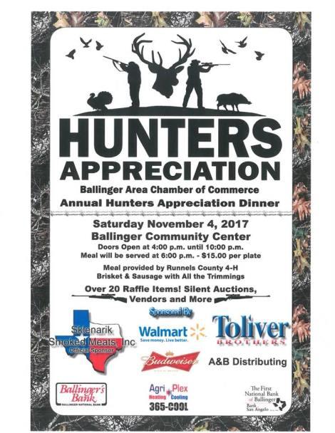 Hunters Appreciation – November 4,2017