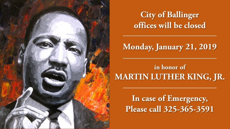city offices closed for martin luther king  jr  day